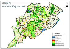 Odisha Forest map